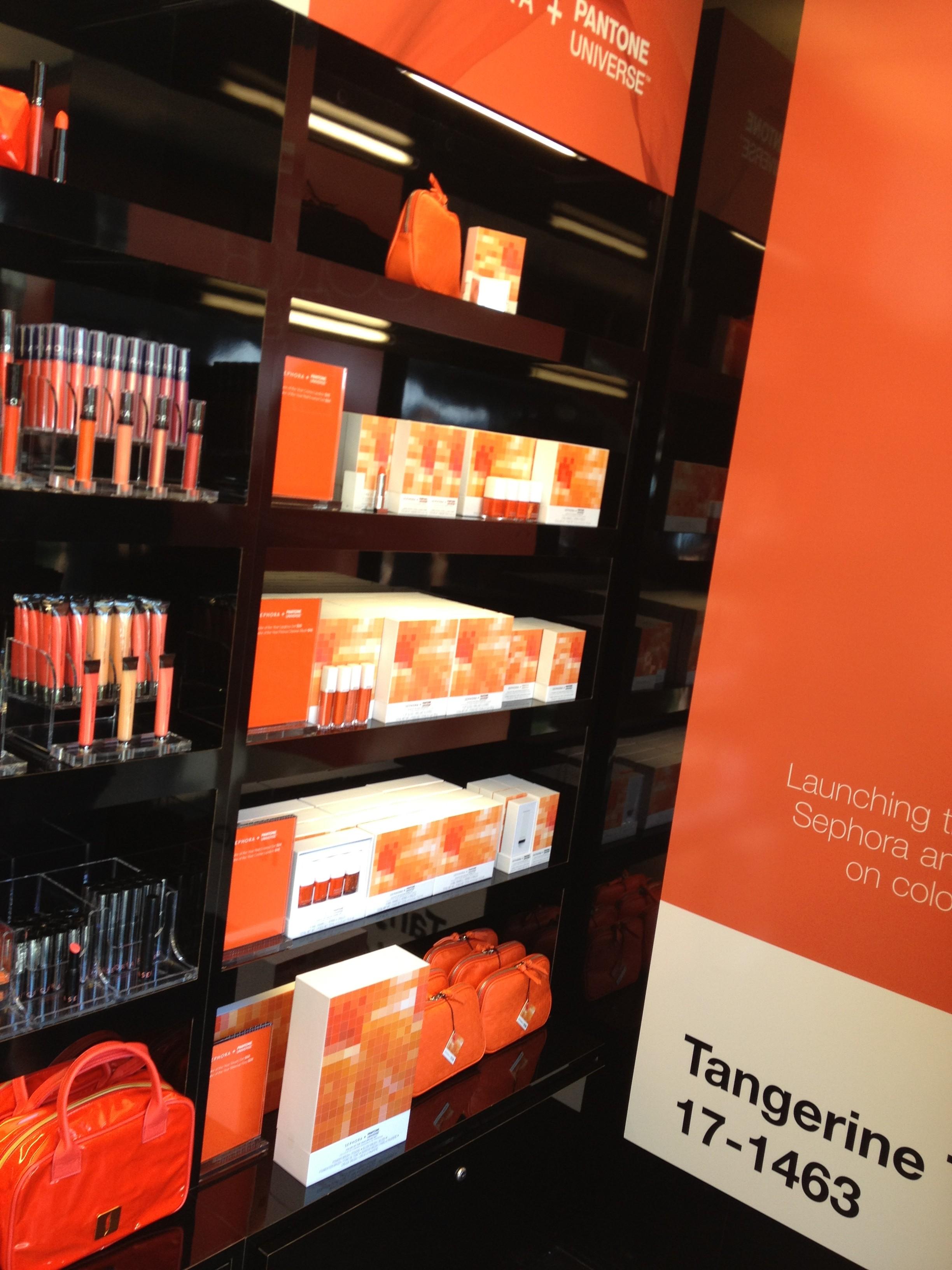 Sephora Launches Pantone Tangerine Tango Collection pics