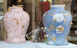 COY vases in window Milan