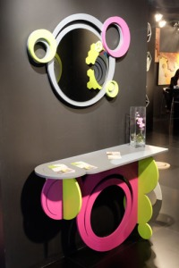 Fluorescent shelf and mirror