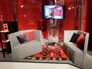Red living room Triannale
