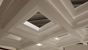 White ceiling treatment