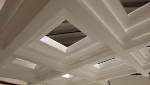 White ceiling treatment
