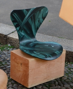 Wood block with seat
