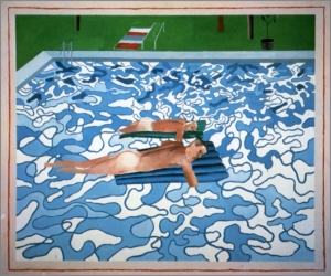 Hockney-California Copied from 1965 Painting in 1987-1987