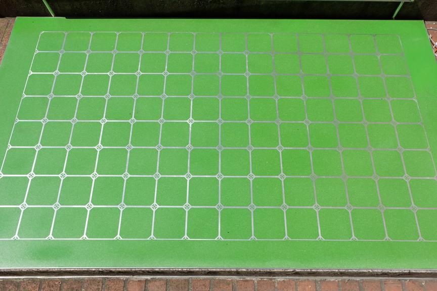 Green inlaid flooring