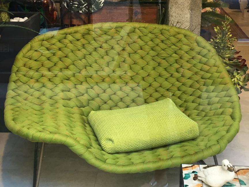 Greenery chair in window