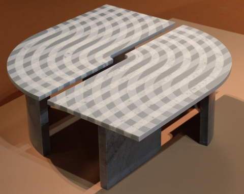 Marble plaid table