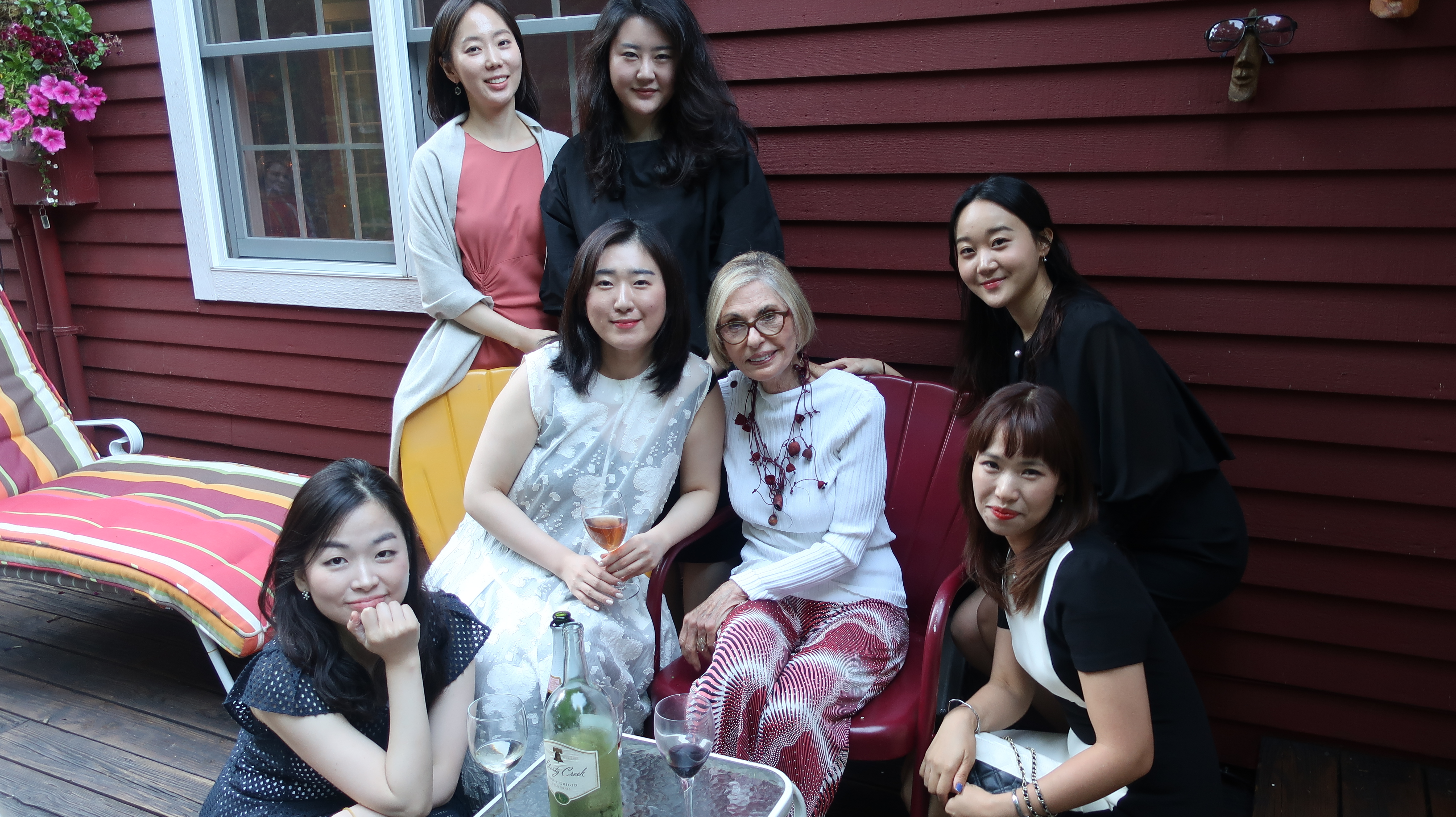 Party at Lees house with Korean students